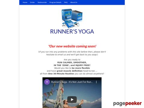 The Official Runner's Yoga Instructional Program - a multi-media, step-by-step home-study program of yoga for runners and other athletes.