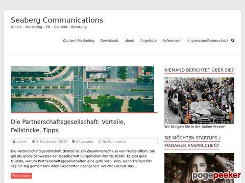 Online-PR Agentur Seaberg Communications