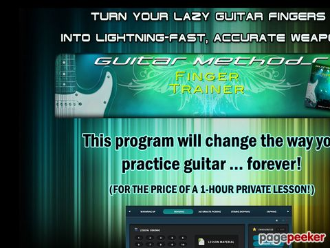Turn your lazy guitar fingers into lightning-fast, accurate ...