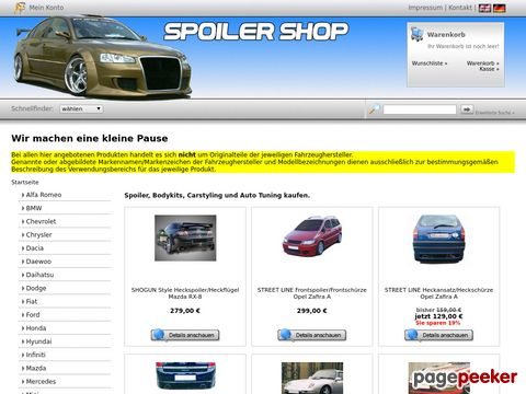 Auto Spoiler, Bodykits und Styling - SPOILER-SHOP