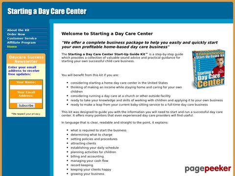 Beginning a Day Care Center – Starter Kit