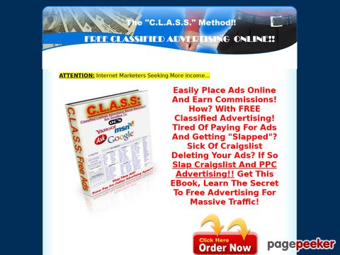 C.L.A.S.S.-Classified Listings Advertising Secret Sources-SLAP Craiglist & PPC- Advertise Free!