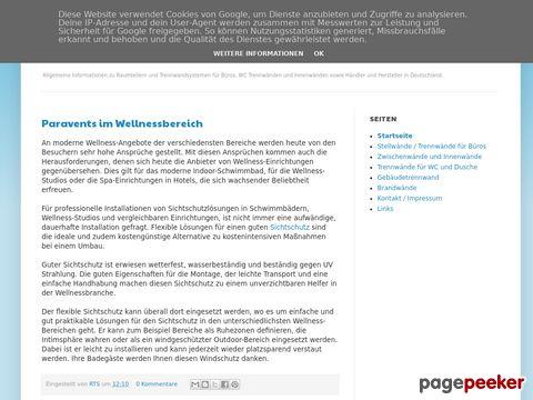 Trennwandsysteme Informationen, Hersteller und Händler in Deutschland