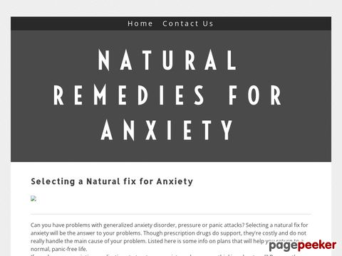 Screeshot of Convenient Methods For anxiety - The Facts