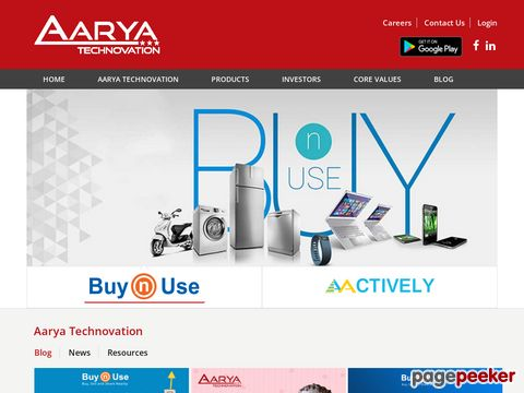 Screeshot of Aarya Technovation - Next Generation Online Products