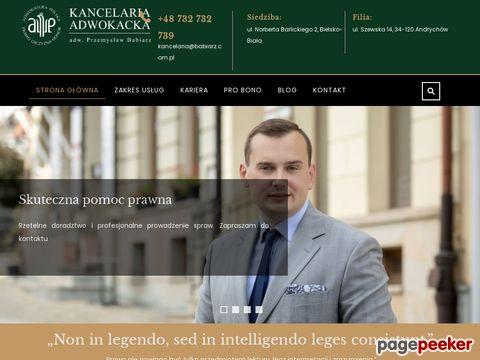 Więcej o stronie : Doradztwo prawne - Przemysław Babiarz