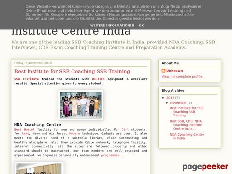Screeshot of Best SSB NDA CDS Coaching Institute Centre