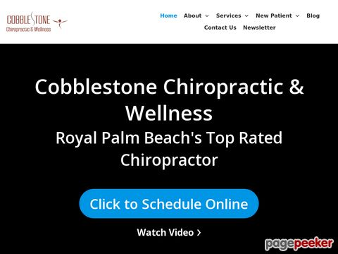 Screeshot of Chiropractic royal palm beach