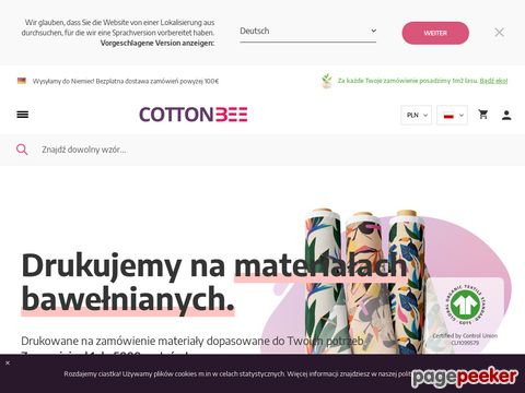 Cottonbee - druk na kretonie
