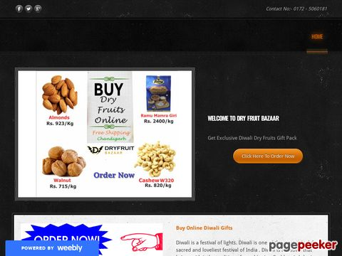 Screeshot of Buy Online Diwali Dry Fruits Gift Pack in Delhi | Bangalore | Inida