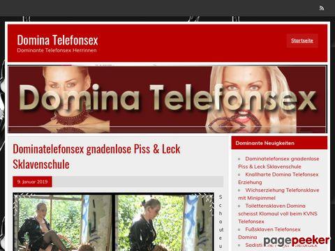 Domina Telefonsex - Dominante Telefonsex Herrinnen