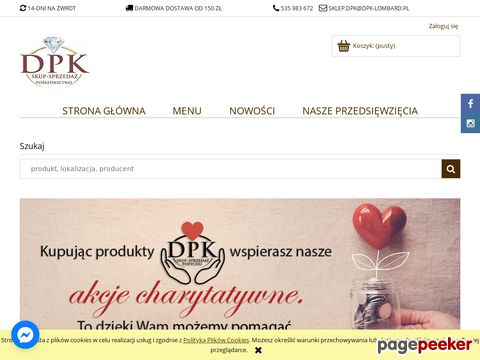 Więcej o stronie : Sieć lombardów DPK