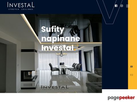 Investal - sufity napinane marki Barrisol