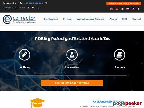 Ecorrector.com Tłumaczenia specjalistyczne
