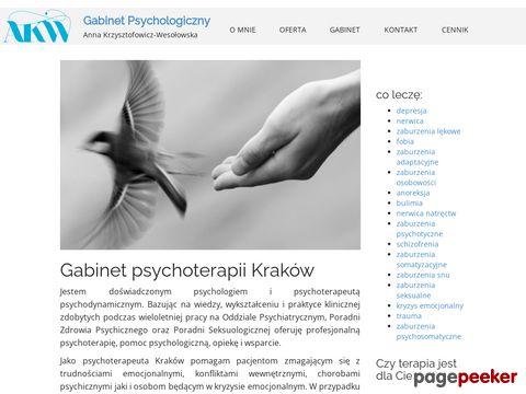 Psychoterapeuta Anna Krzysztofowicz-Wesołowska - gabinet w Krakowie