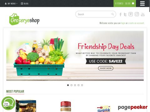 Screeshot of Buy Grocery Products Online Shopping in USA on groceryeshop