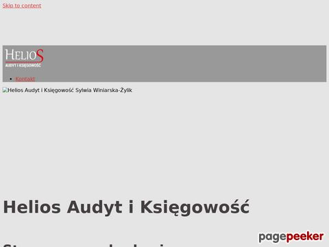 Więcej o stronie : Helios Audyt i księgowość - Piaseczno