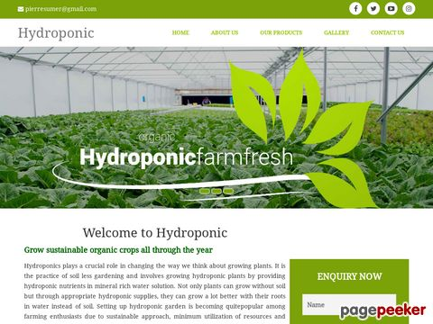 Screeshot of hydroponic systems