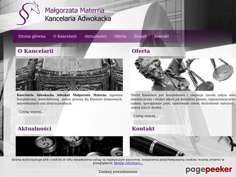 Materna Małgorzata Kancelaria Adwokacka