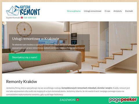 KapitanRemont.pl - remontowanie mieszkań w Krakowie