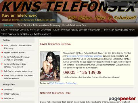 Details : Kaviar Telefonsex & abartige Telefonsex Kaviarsex & Natursekt Fotzen