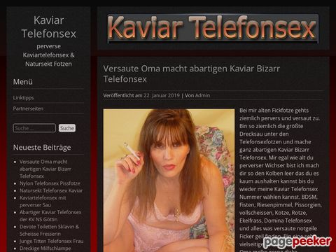 Details : perverse Kaviartelefonsex & Natursekt Fotzen
