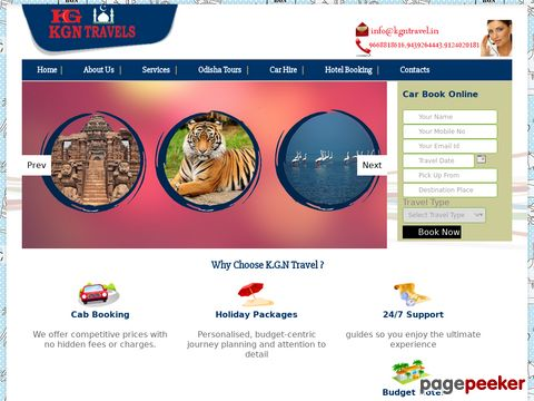 Screeshot of car booking in bhubaneswar