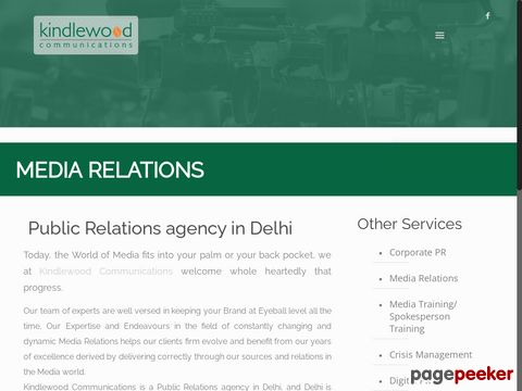 Screeshot of Media Relations| Public Relations Agency in Delhi