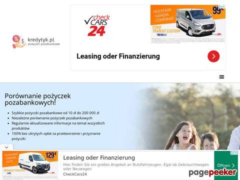 kredytyk.pl - Pożyczki na dowód bez zaświadczeń