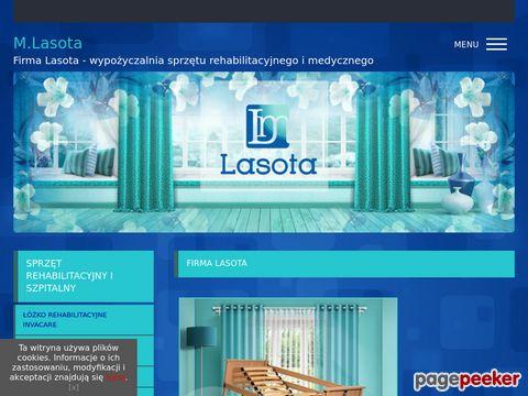 Więcej o stronie : Firma LASOTA - Wypożyczalnia sprzętu rehabilitacyjnego