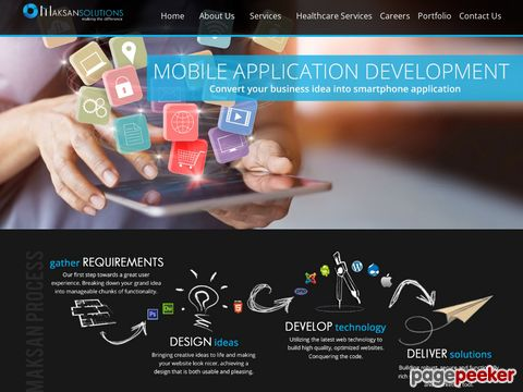 Screeshot of web application development company chennai