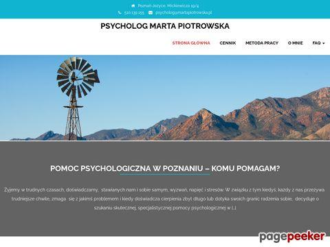 Psycholog Poznań cena