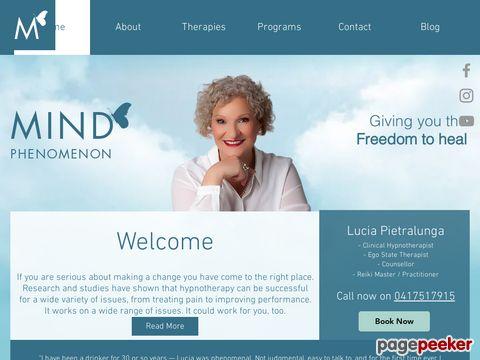 Screeshot of Hypnotherapy Melbourne | Hypnotherapy Stress Relief - Mindphenomenon