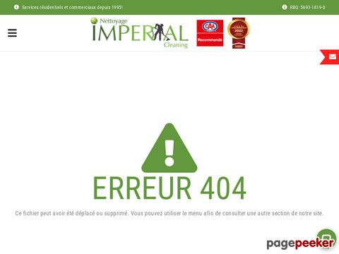Screeshot of nettoyage de conduit de ventilation laval