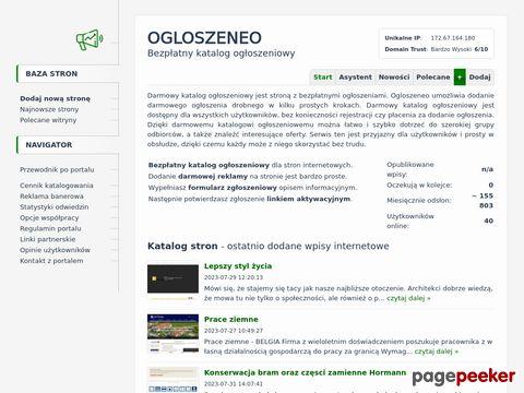 Więcej o stronie : Ogloszeneo.pl - Darmowy portal ogłoszeniowy