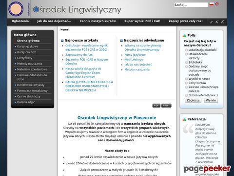 Nauka angielskiego Piaseczno