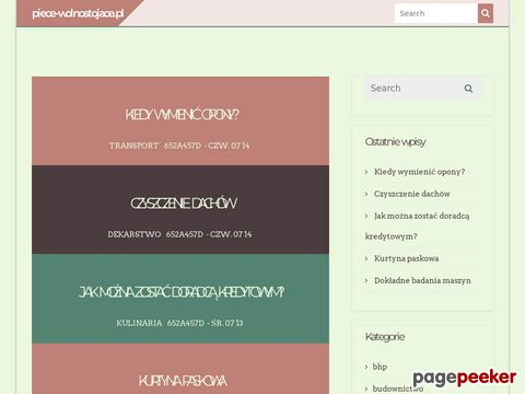 Piece-Wolnostojace.pl - sklep internetowy