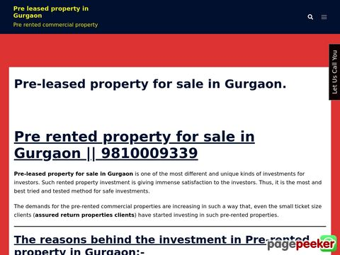 Pre leased Property