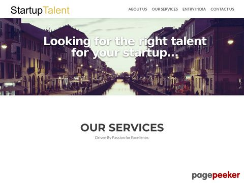 Screeshot of Startup Talent - Talent Acquisition Partner