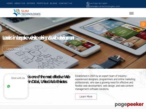 Screeshot of web design in Dubai| website design company Dubai UAE