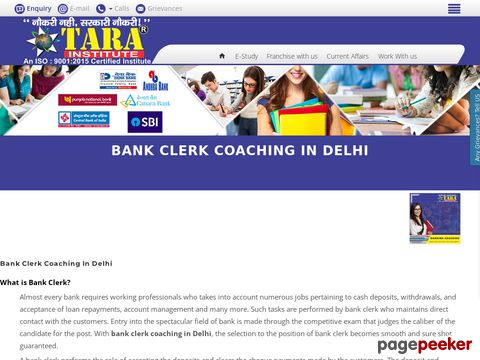 Screeshot of Bank Clerk Coaching in Delhi