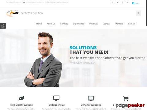 Screeshot of Website and Software company in agra