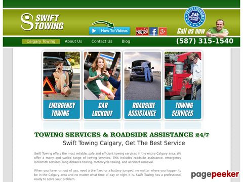 Screeshot of Towing Service Calgary
