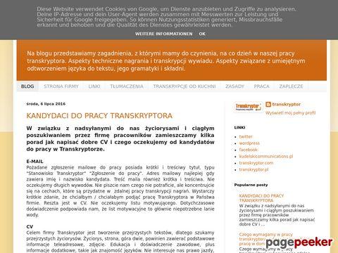 Blog transkryptor.pl