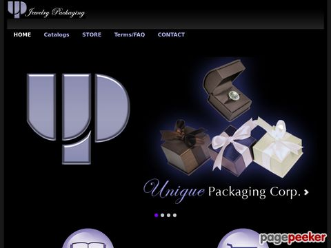 Screeshot of Jewelry Boxes | Packaging | Displays
