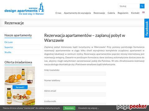 Rezerwacja apartamentów w Warszawie