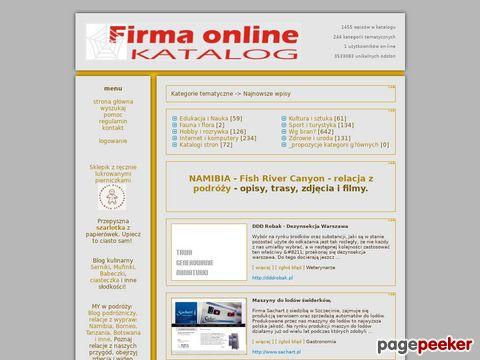 Bezpłatny katalog - Twoja Firma Online