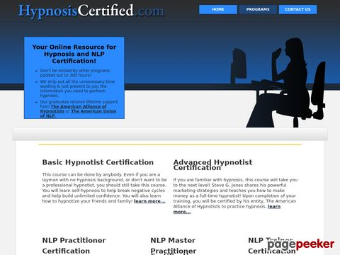 Hypnosiscertified.com