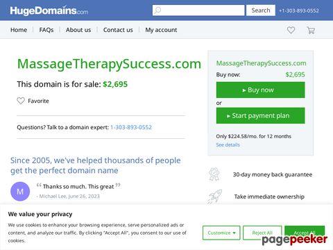 Massagetherapysuccess.com