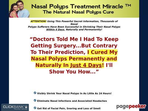 Nasalpolypstreatmentmiracle.com